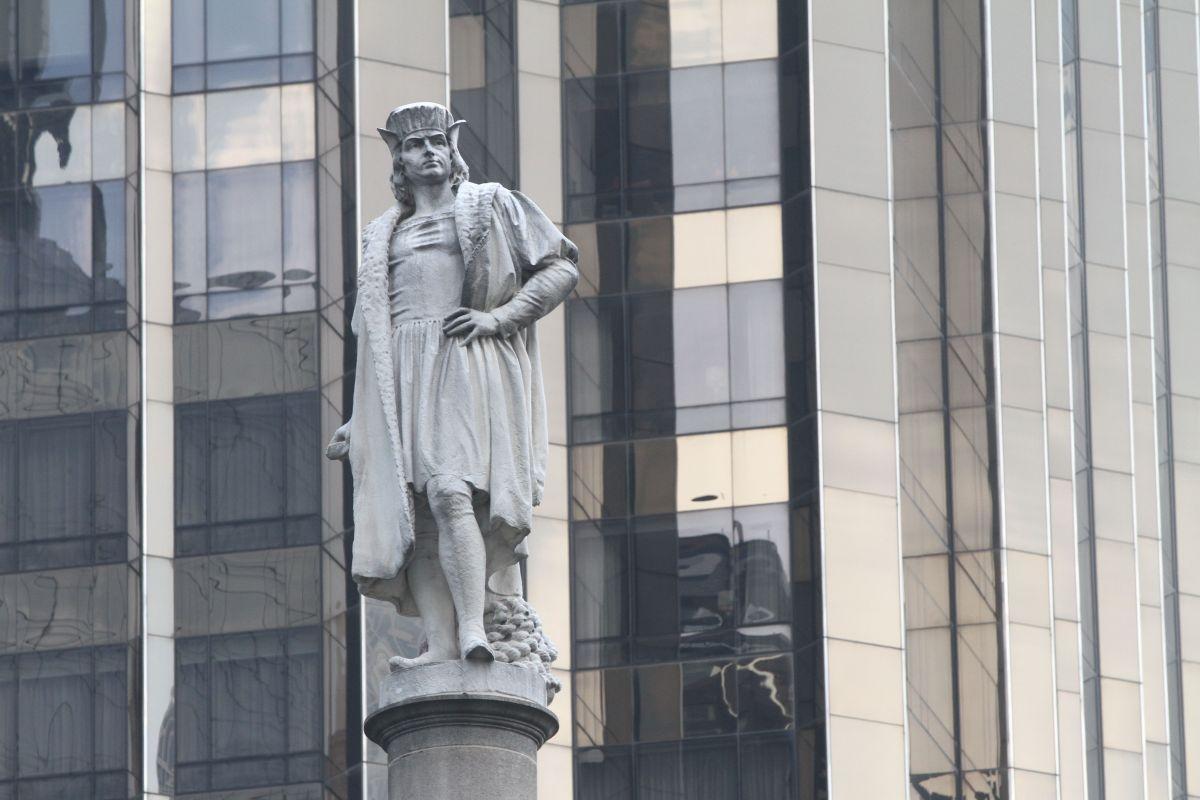 Estatua de Cristóbal Colón en Columbus Circle, NYC