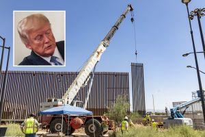 Con ayuda de herramientas, traficantes de personas y droga atraviesan muro