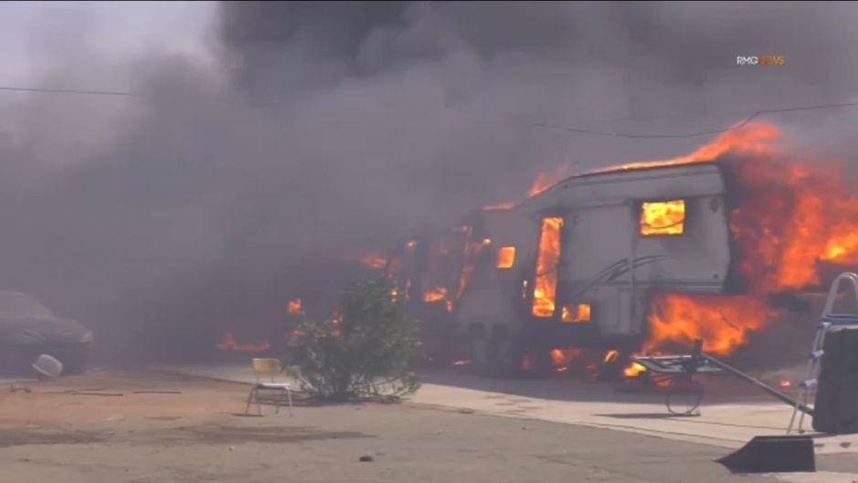 Humo de los incendios del sur de California contamina el aire