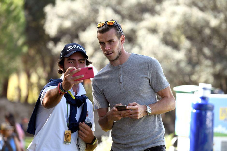 Gareth Bale demuestra una vez más su fanatismo por el golf al asistir al Abierto de España