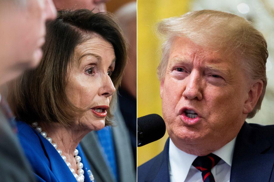 """Trump repite a Pelosi llamándola """"enferma"""" y pidiendo que recen por ella"""