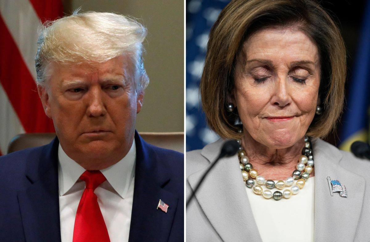 Los comentarios de Trump llegan horas después de que Pelosi anunciara que continuaría con 'impeachment'.