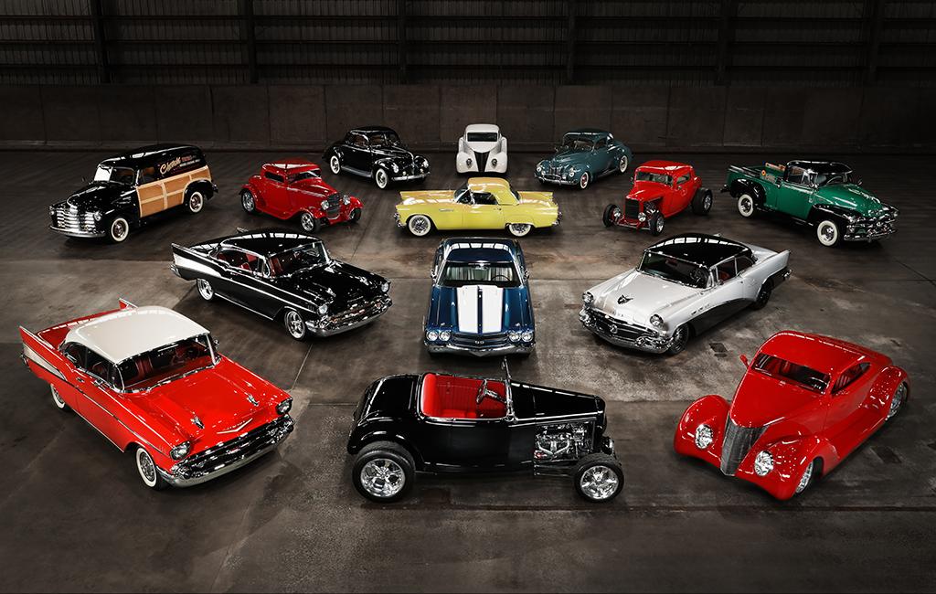"""Foto de los primeros 14 autos de la colección """"The Vault Portfolio"""" que se subastaron en Connecticut el pasado mes de junio"""