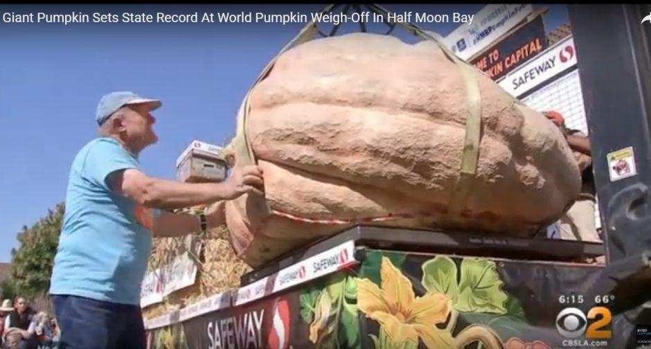 Enorme calabaza que pesa 2,175 libras establece un récord en California