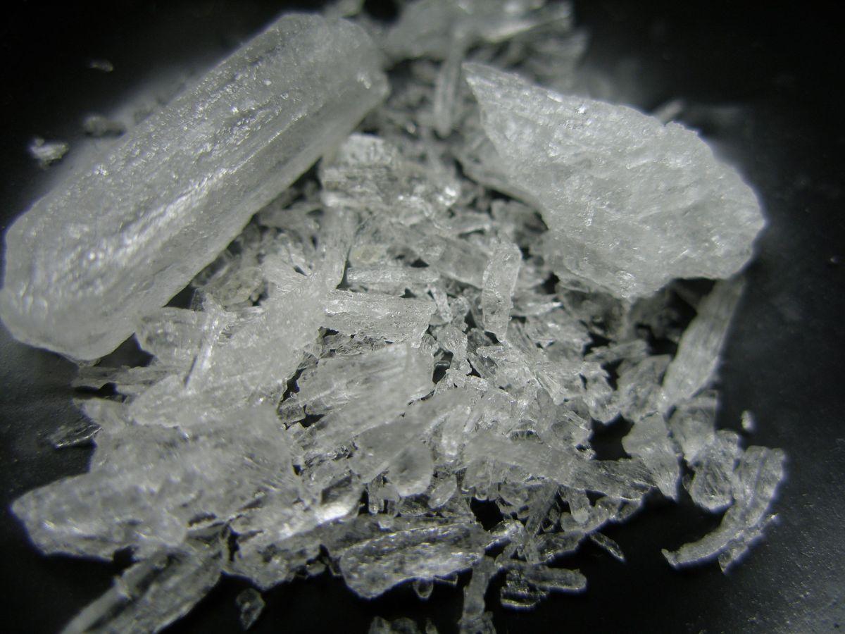 Metanfetamina cristalizada. (Wikimedia commons)