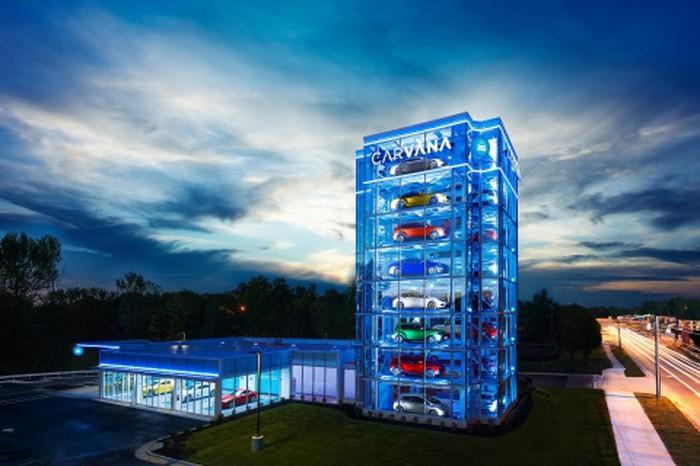 Carvana: Compra tu auto en línea y recógelo de la 'vending machine' con una moneda