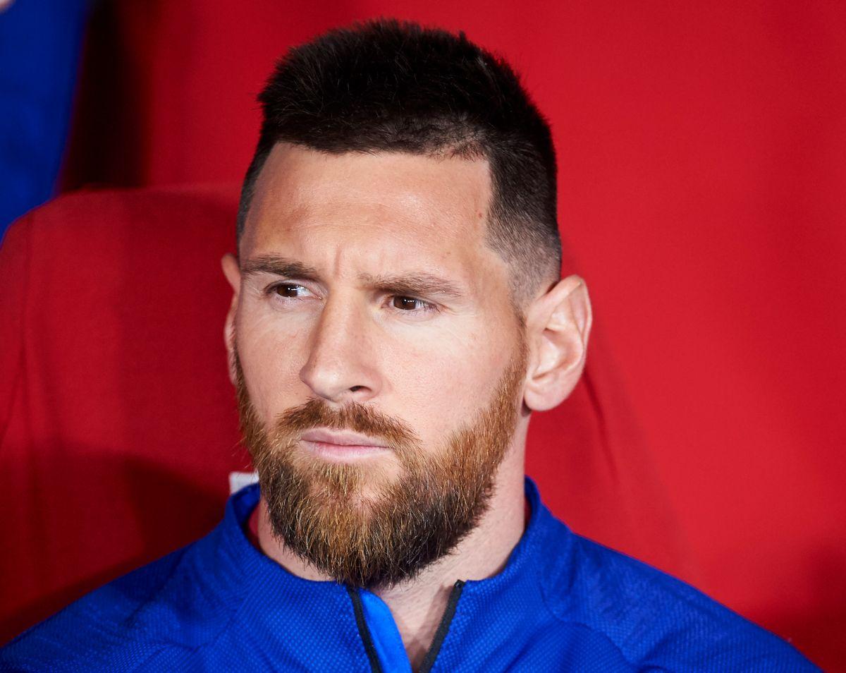 Leo Messi cuando era un poco más feliz en el Barcelona.