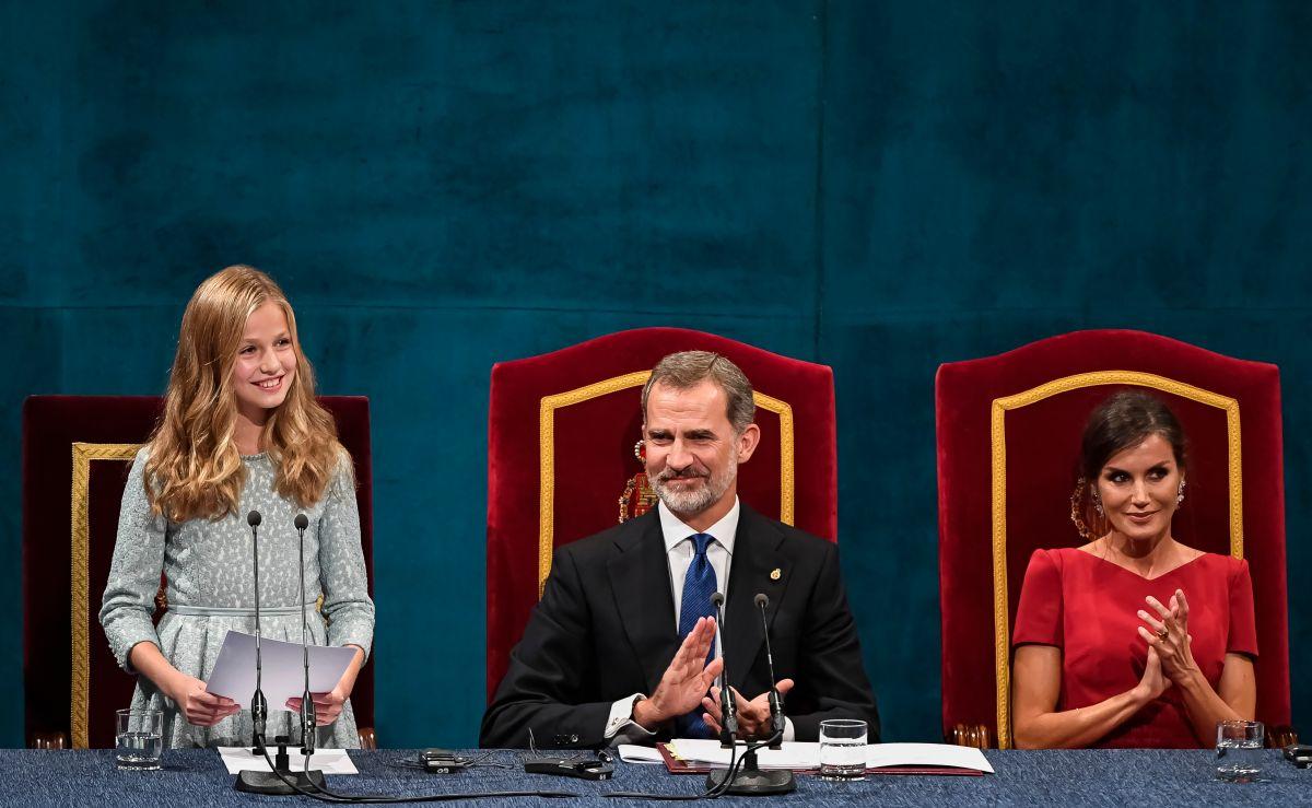 La princesa de Asturias, heredera a la Corona española, sorprendió en su primer discurso público a los 13 años