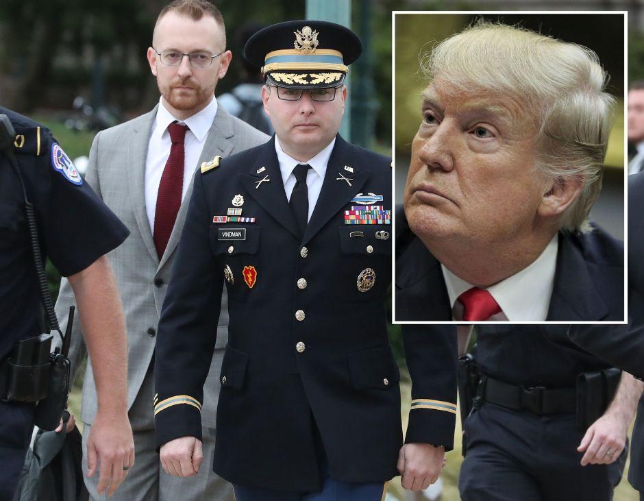 La terrible acusación de militar contra Trump en testimonio por juicio político