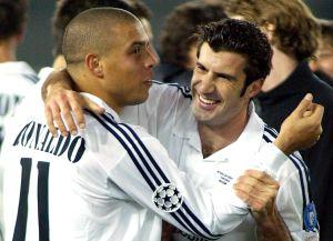 Figo toma con humor que Ronaldo chulee a su esposa