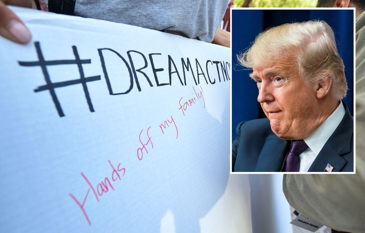 """El presidente Trump abre la puerta a un acuerdo por """"dreamers""""."""