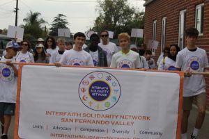 Marcha solidaria interreligiosa para combatir el odio en el Valle de San Fernando