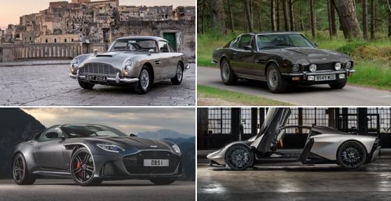 Cuatro Aston Martins estelarizarán la nueva película de James Bond: 2 clásicos y 2 modernos