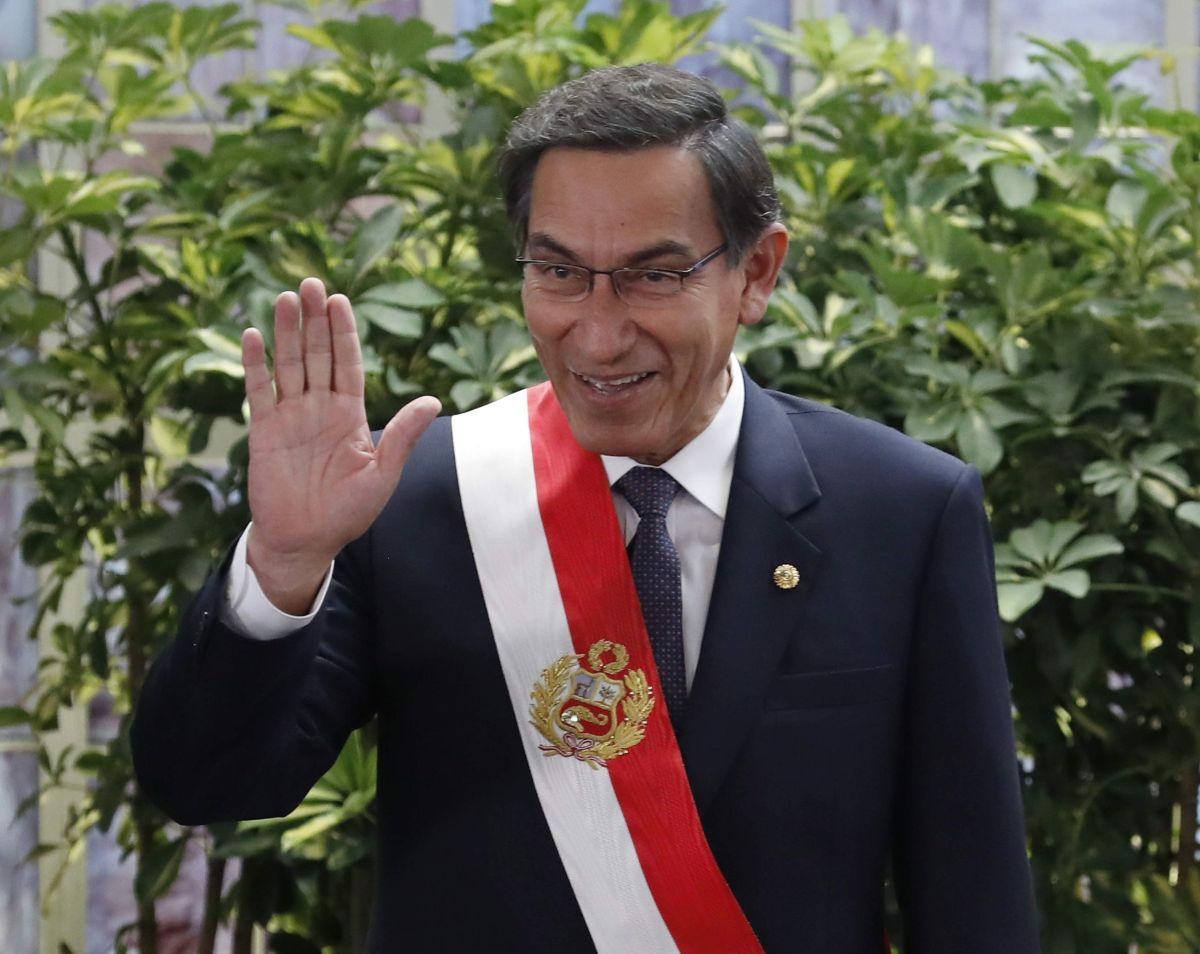 Martín Vizcarra, presidente peruano.