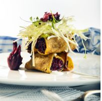 ¡Come más fibra! Crujientes tacos vegetarianos de flor de jamaica