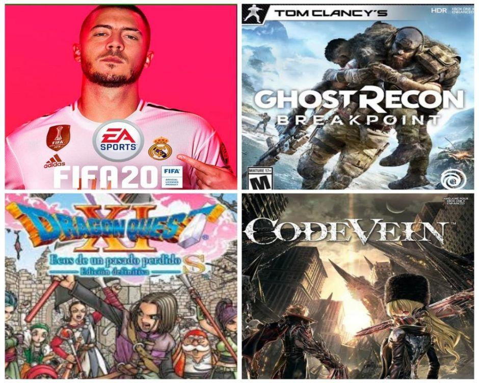 Reseña videojuegos: FIFA 20, Ghost Recon Breakpoint, Dragon Quest XI S y Code Vein