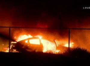 Persecución policial causó el incendio 46 en Riverside