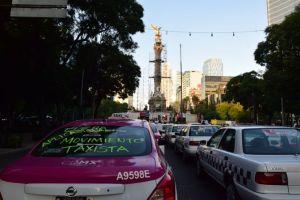 Megaprotesta de taxistas en la CDMX contra Uber y Cabify