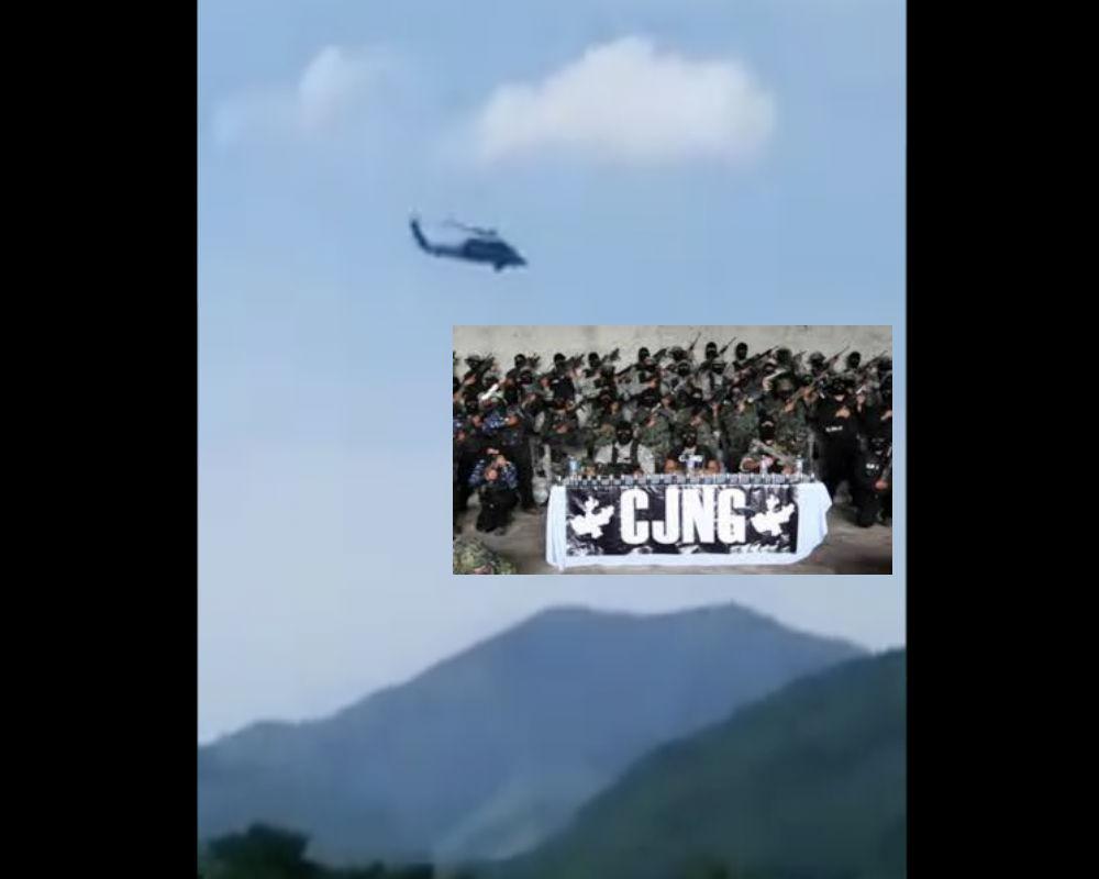 VIDEO: Ejército mexicano caza a sicarios del CJNG y Cárteles Unidos con helicóptero