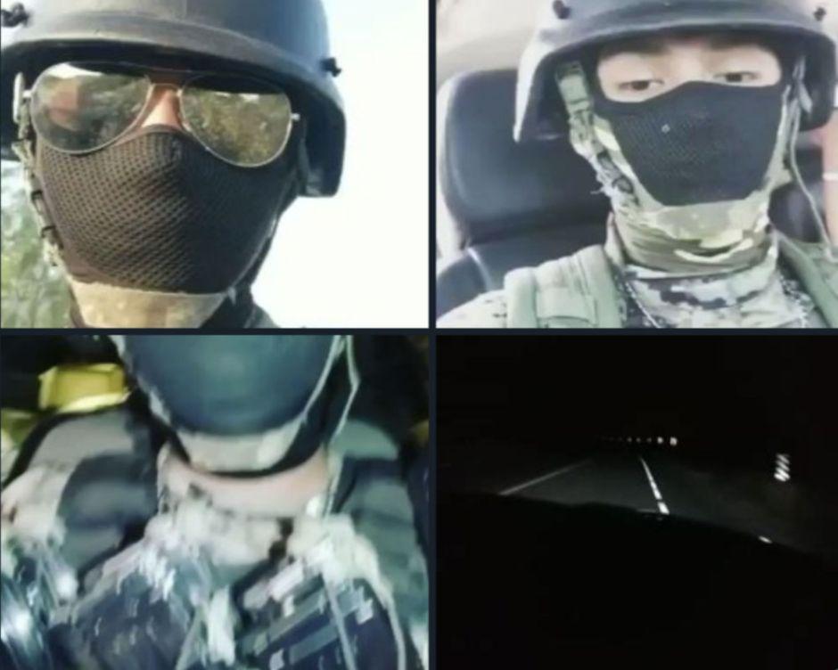 VIDEOS: Sicarios de Los Metros y el CJNG muestran arsenal al patrullar la Frontera Chica