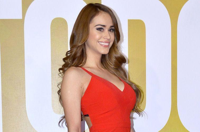 Yanet García: un vestido rojo, una pose sugerente y sus descomunales atributos