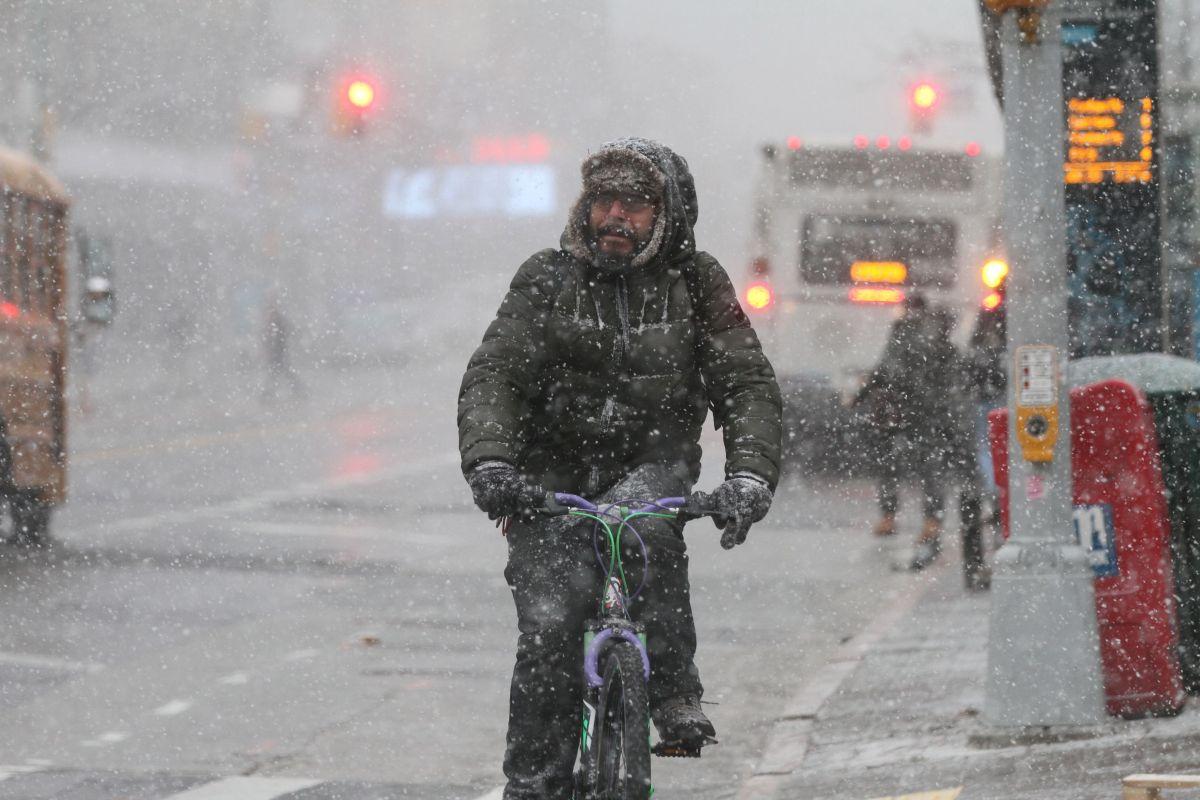 Una nevada en Nueva York.