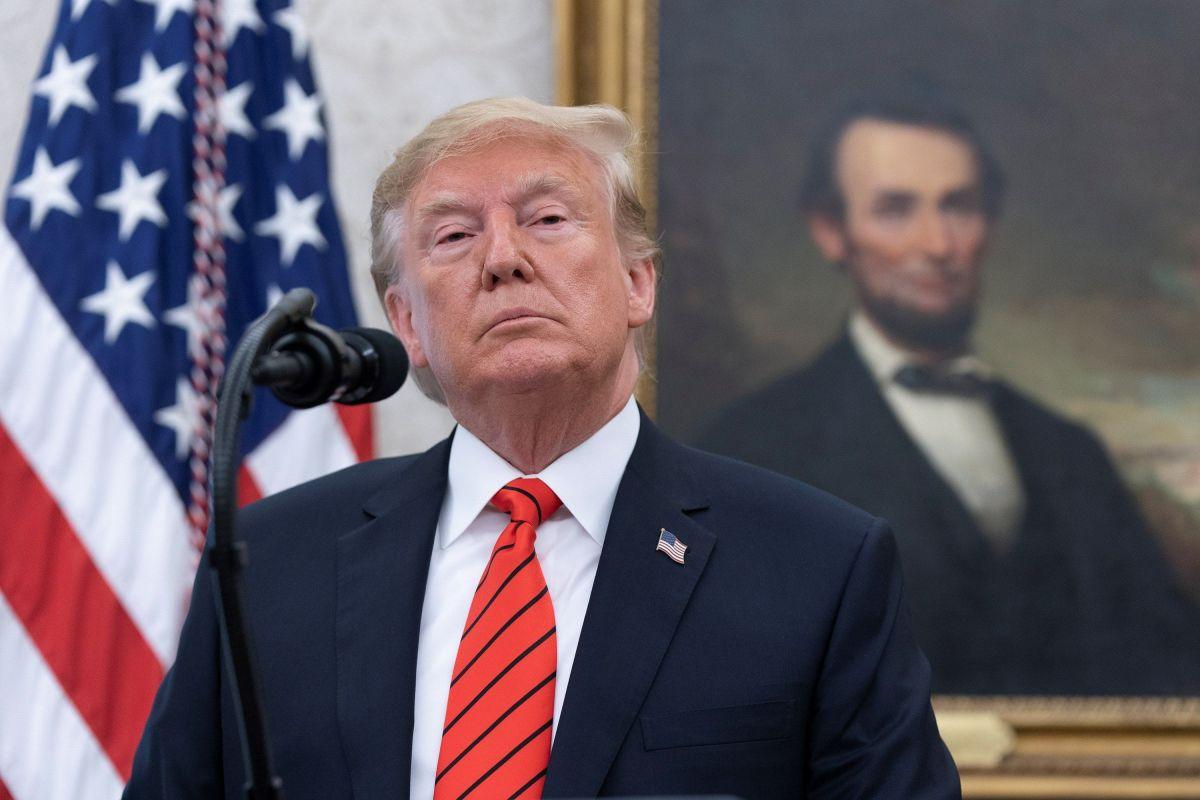 El presidente Trump enfrenta proceso de juicio político.