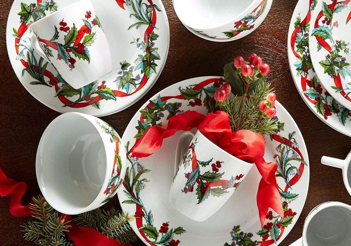 5 set de vajillas para servir la cena de navidad en casa