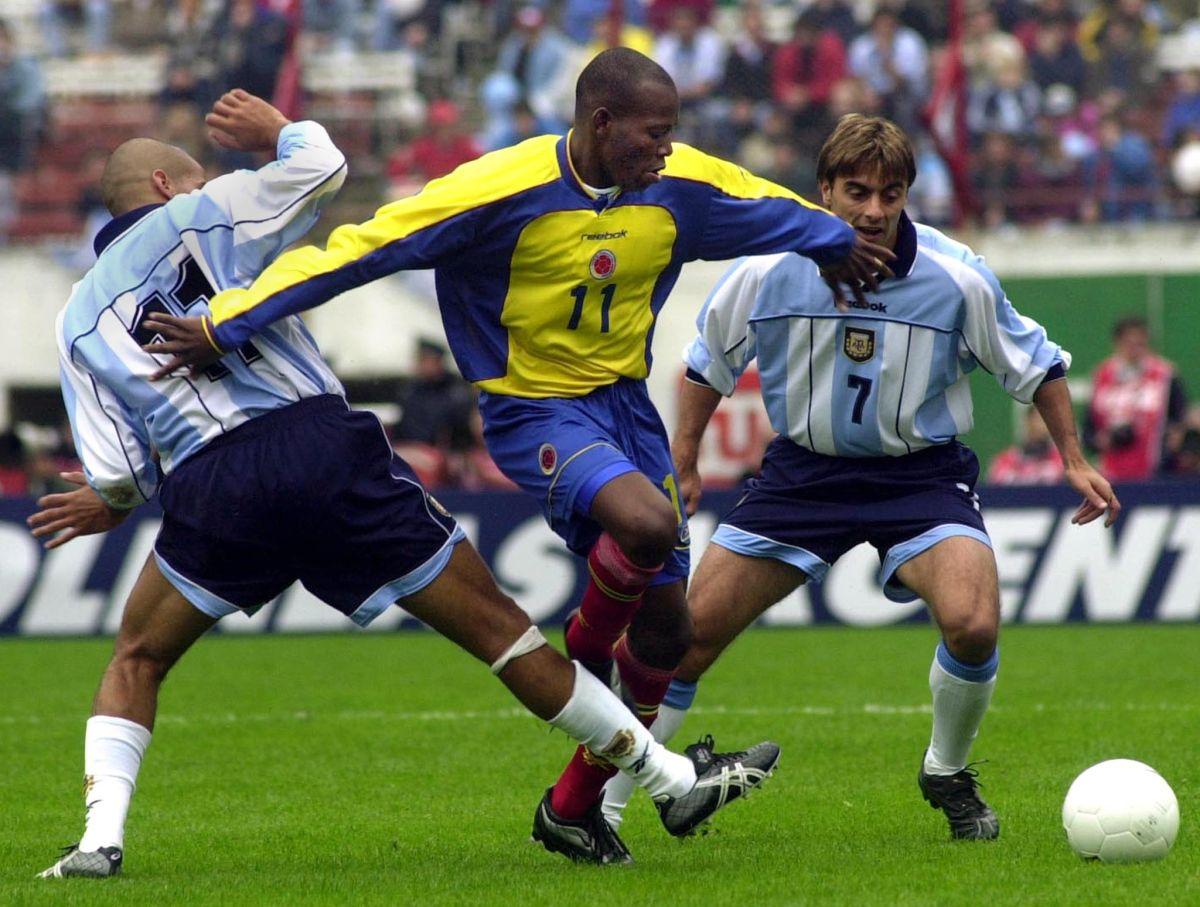 """""""Tino"""" Asprilla es recordado por su participación en los mundiales de Estados Unidos 1994 y Francia 1998."""