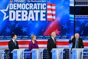 Adelante con el debate presidencial demócrata en Los Ángeles
