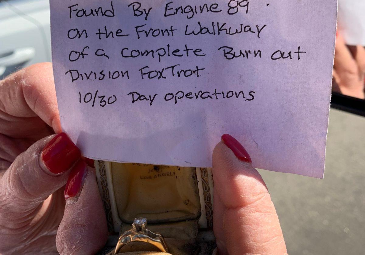 Un anillo que sobrevivió el incendio de Bel-Air de 1961 fue hallado entre escombros del fuego de Getty