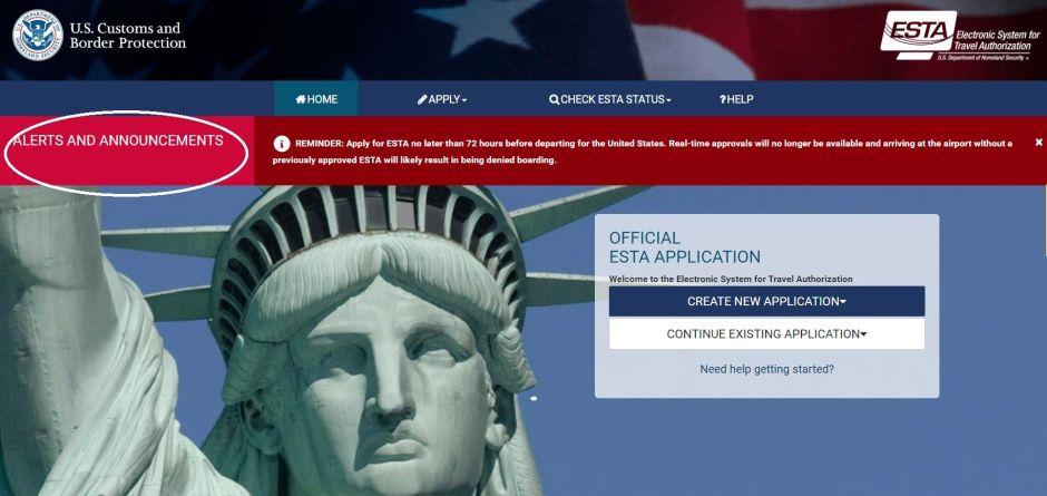 """Autoridad migratoria alerta sobre """"autorización de viaje"""" a EEUU sin visa para ciudadanos de 39 países"""
