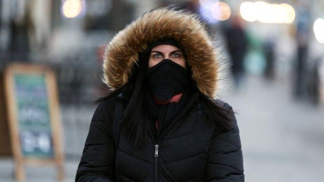 Frío ártico en Nueva York.