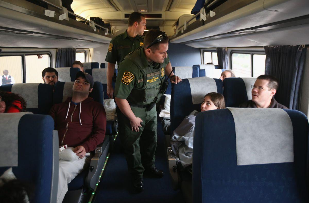 La Patrulla Fronteriza suele realizar operativos en trenes.