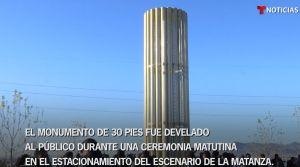 """Inauguran """"Grand Candela"""", el monumento que honra a las víctimas de masacre en El Paso"""