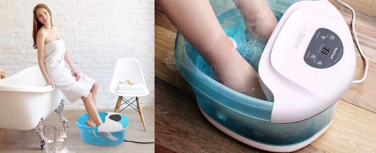 4 tinas de hidromasaje para relajar tus pies y aliviarte dolores que puedes usar en la casa