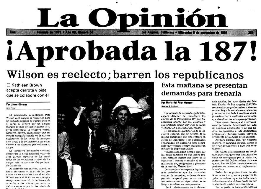En el 25 aniversario de la Proposición 187, ¡Gracias, Antonia!