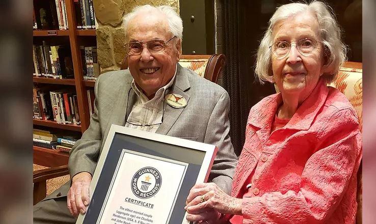 """Pareja texana entra al Récord Guinness por ser """"el matrimonio más longevo"""" del mundo"""