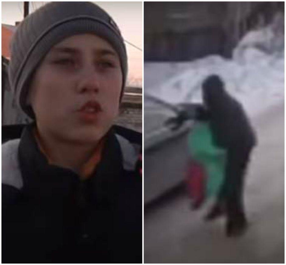 Adolescente salva a niña de 9 años secuestrada por pedófilo en calle de Siberia