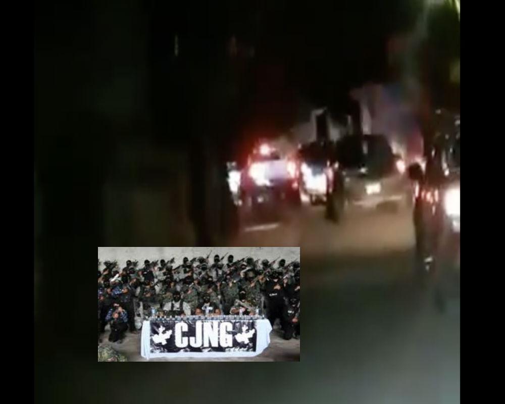 VIDEO: Captan al ejército del Mencho y el CJNG a bordo de trocas blindadas