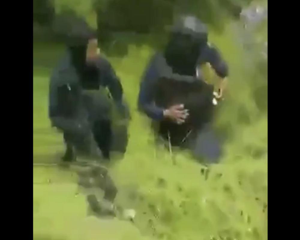 VIDEO: Captan balacera entre policías y narcos del Cártel del Golfo