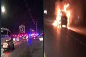 VIDEOS: Cártel de Los Mexicles queman vehículos en Ciudad Juárez para evitar operativo en penal
