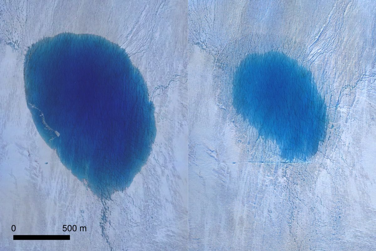 Científicos ven cómo un lago de Groenlandia se vacía en pocas horas