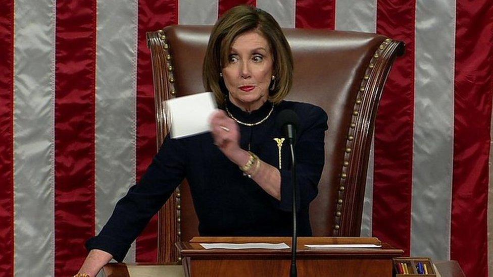 """Nancy Pelosi fue una de las grandes impulsoras del """"impeachment"""" a Trump."""