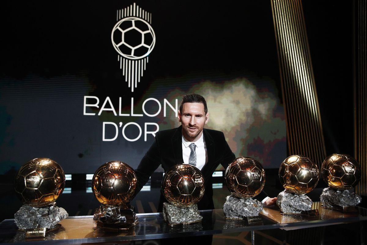 Messi ganó su sexto Balón de Oro.