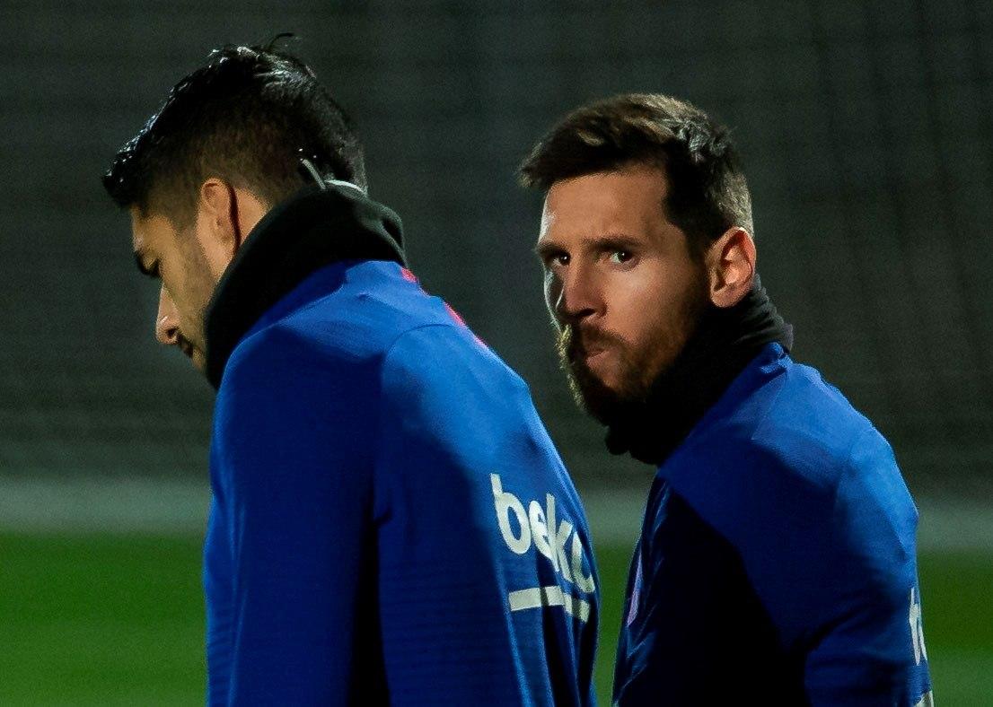 Lionel Messi durante un entrenamiento.