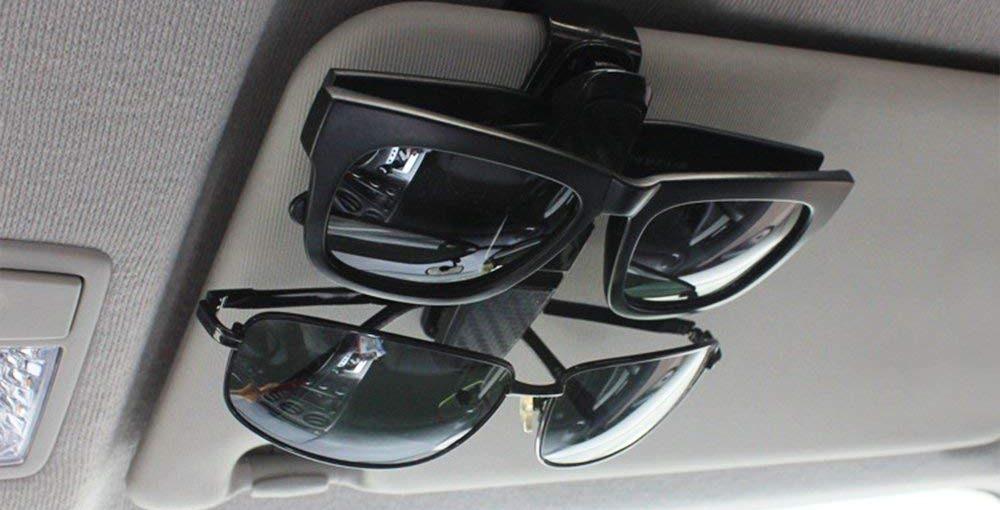 4 soportes para gafas que puedes colocar en las viseras de tu auto