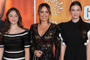 Mira lo grandes que están Mía y Nina Rubín, las hijas de Andrea Legarreta