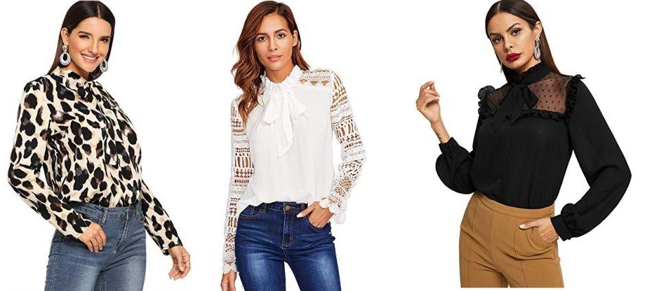 6 opciones de blusas con lazos para un look coqueto y chic en navidad