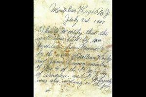 Encuentran en una botella un mensaje escrito hace 112 años